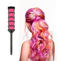 Волшебная расческа для временной тонировки волос, Фуксия