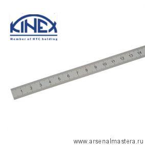 Линейка стальная 500х30х1 мм шкала 1 мм Kinex 1023