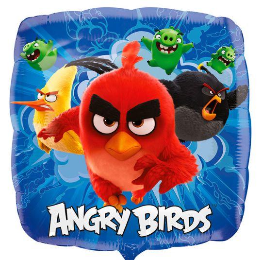 Angry Birds квадратный шар фольгированный с гелием