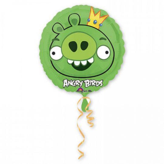 Король свиней круглый шар фольгированный с гелием
