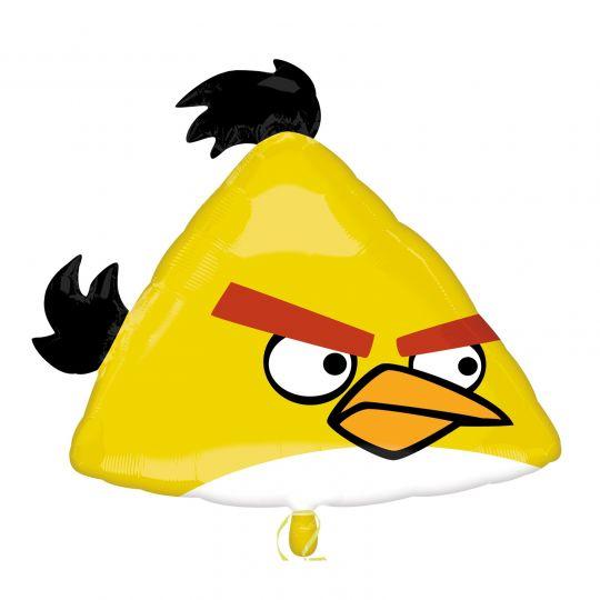 Желтая птица фигурный шар фольгированный с гелием