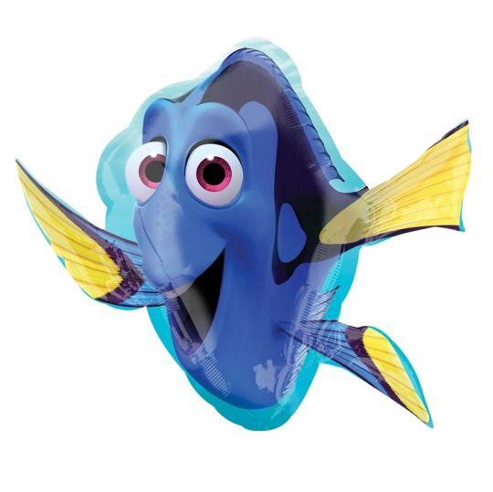 Рыбка Дори фигурный шар фольгированный с гелием
