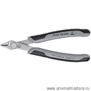 Кусачки (БОКОРЕЗЫ) для электроники прецизионные Electronic Super Knips KNIPEX 78 03 125 ESD
