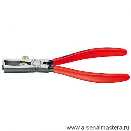 Клещи с накатанной головкой и контргайкой для удаления изоляции KNIPEX 11 01 160