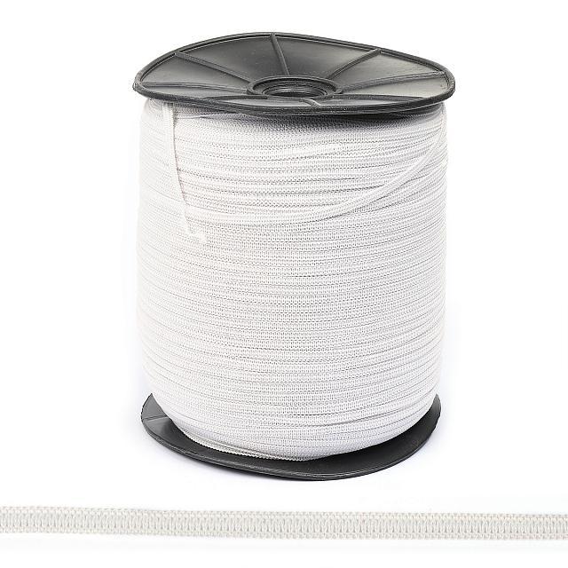 резинка плоская 0,4мм белая