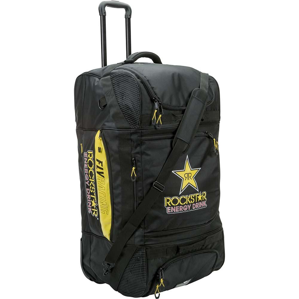 Fly Racing Roller Grande Bag RockStar Black/Yellow сумка для экипировки на колесах черно-желтая