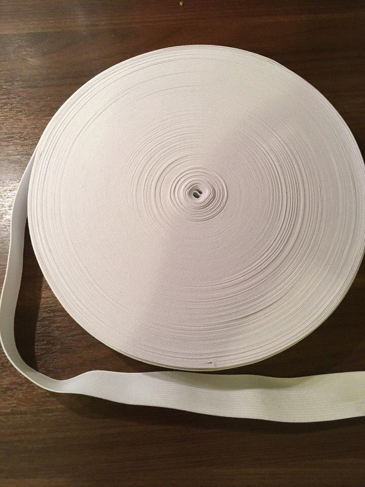 резинка вязанная  белая25мм