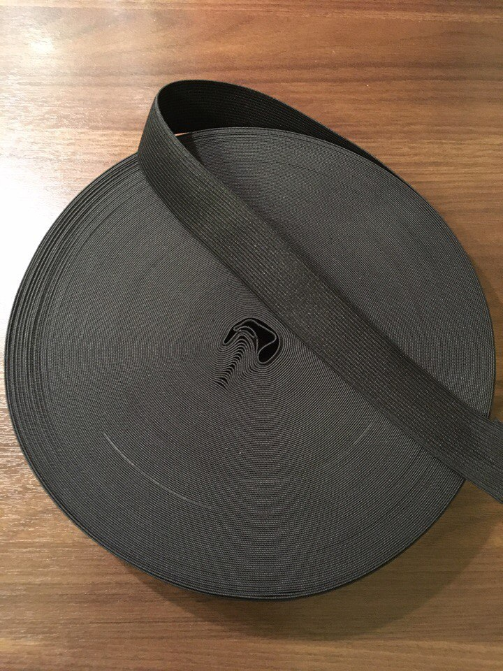 резинка вязанная черная25мм