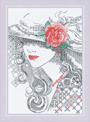 Набор для вышивания крестом Таинственная Роза №1887 фирма Риолис