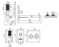 Смеситель для ванны/душа Fima - carlo frattini Switch F5944