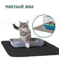 Коврик для кошачьего туалета чистый пол, Чёрный
