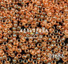 Бисер чешский 01683 оранжевый прозрачный блестящий Preciosa 1 сорт