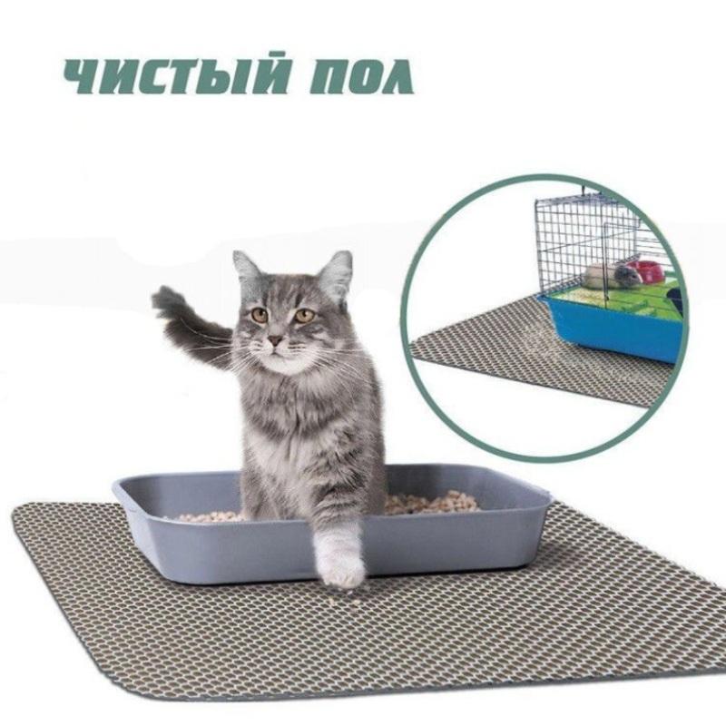 Коврик для кошачьего туалета чистый пол, Серый