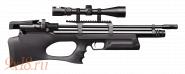 Винтовка пневматическая буллпап (bullpup) PCP KRAL Puncher Breaker - Крал Панчер Брейкер калибр 6.35 мм, пластиковое ложе
