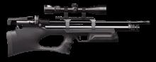 Винтовка пневматическая буллпап (bullpup) PCP KRAL Puncher Breaker - Крал Панчер Брейкер калибр 4.5 мм, пластиковое ложе + РАЗГОН