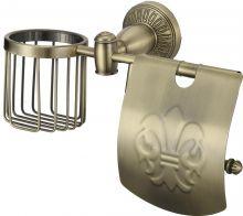 Держатель для туалетной бумаги и освежителя Savol S-R06651C бронза