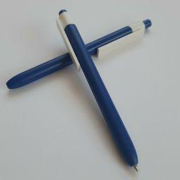 синие ручки с логотипом