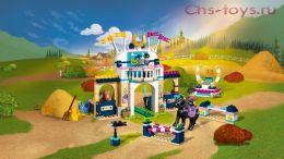 Конструктор LEPIN Girls Club Соревнования по конкуру 01077(Аналог LEGO Friends 41367) 377 дет