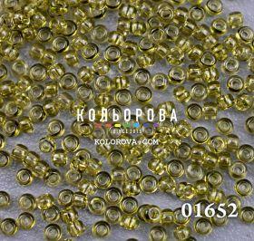 Бисер чешский 01652 оливковый прозрачный блестящий Preciosa 1 сорт