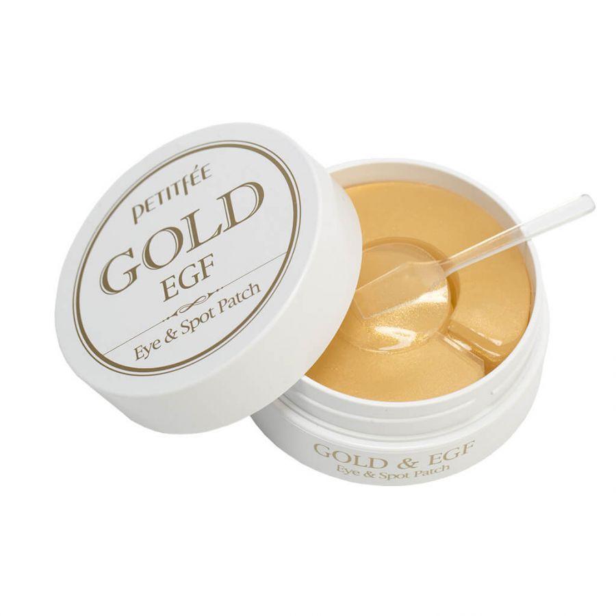 Гидрогелевые патчи для кожи вокруг глаз и для проблемных участков кожи лица с золотом и EGF (90шт)
