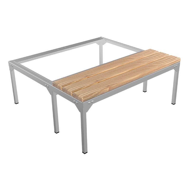 Скамья-подставка под шкаф для одежды «LS-21-80» сосна