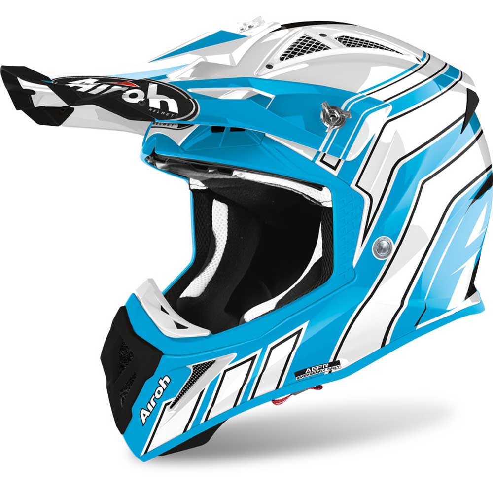 Airoh Aviator Ace Art Azure Gloss шлем для мотокросса и эндуро