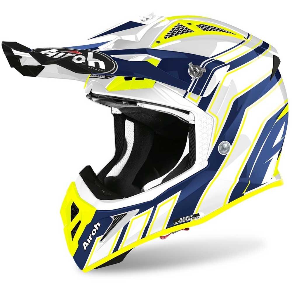 Airoh Aviator Ace Art Blue Gloss шлем для мотокросса и эндуро