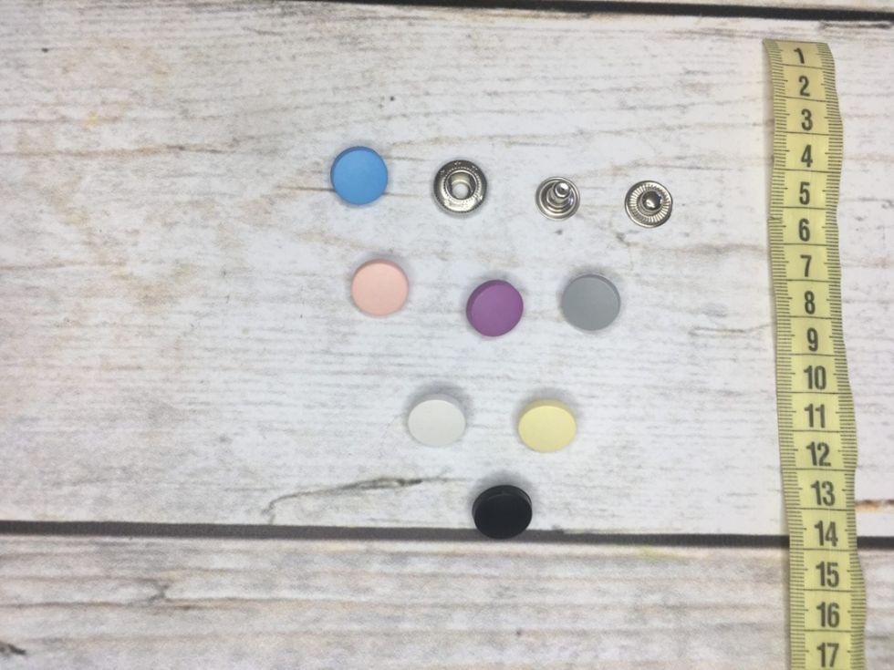 кнопки альфа 15 мм с пластиковой шляпкой розовый
