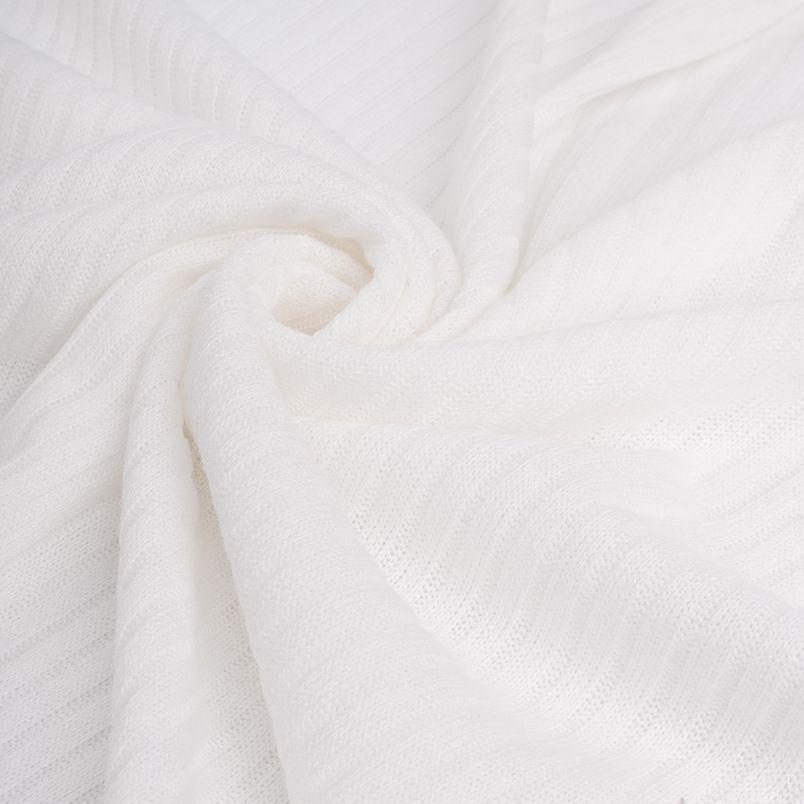 Трикотаж-резинка  - Молочный 50х37
