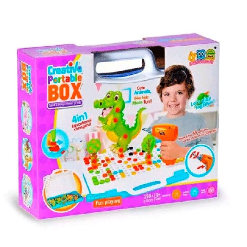 Конструктор-мозаика с дрелью Creative Portable Box, 198 деталей