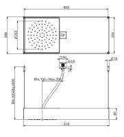 Тропический душ Fima - carlo frattini Wellness F2993B 60,5х26,6