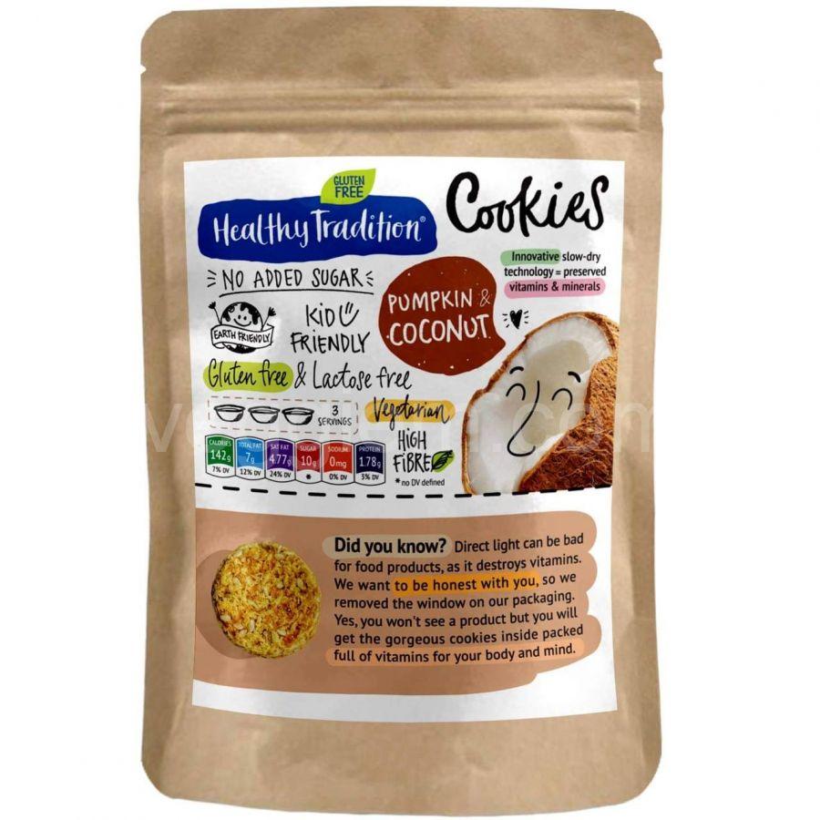 Печенье без глютена «Cookies тыква и кокос» Healthy Tradition,90 грамм