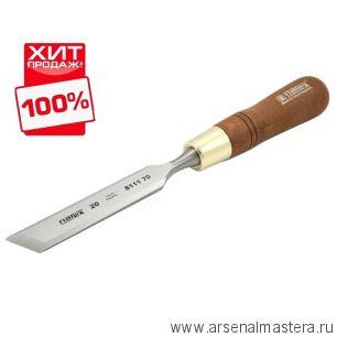 Стамеска косая левая с ручкой Wood Line Plus 20 мм Narex 811170 ХИТ !