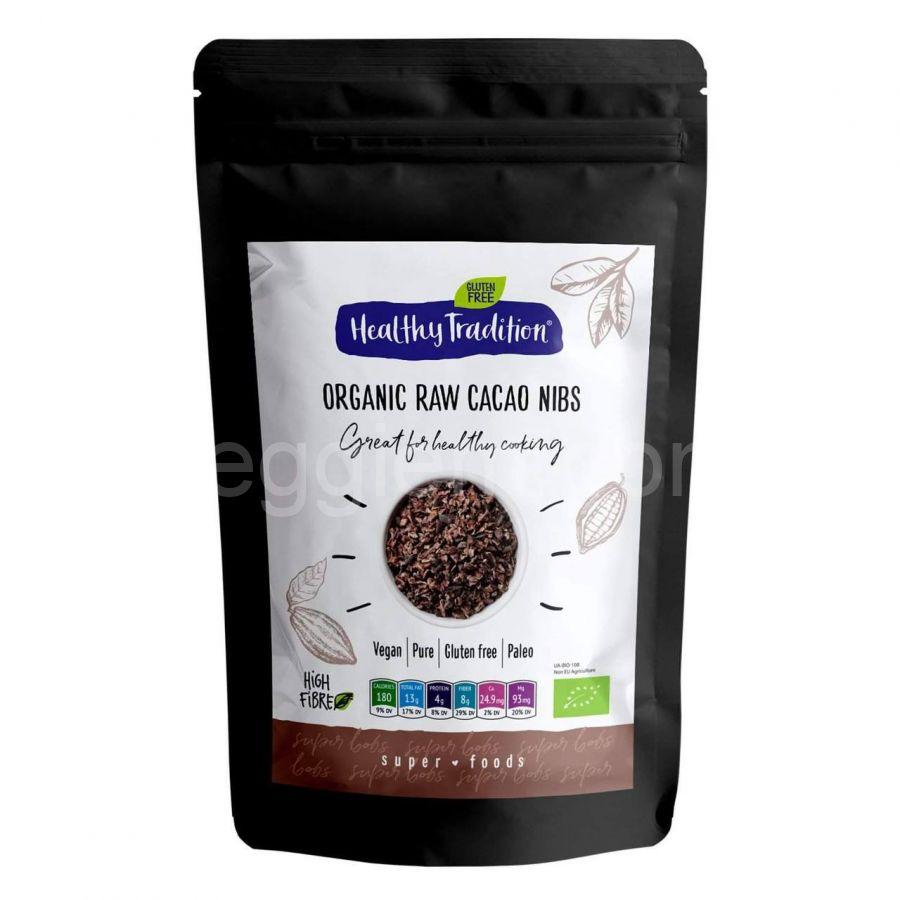 Органические какао нибсы Healthy Tradition,150 грамм