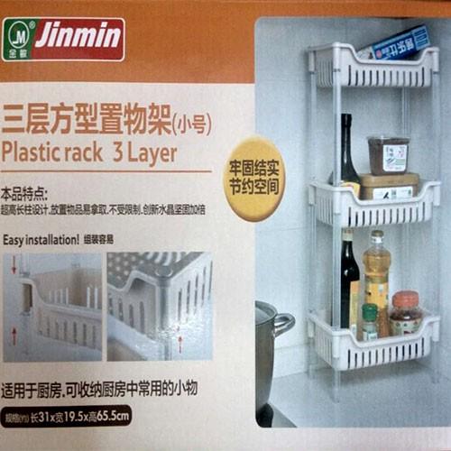 Пластиковая 3-х ярусная полка для кухни Plastic rack 3 Layer