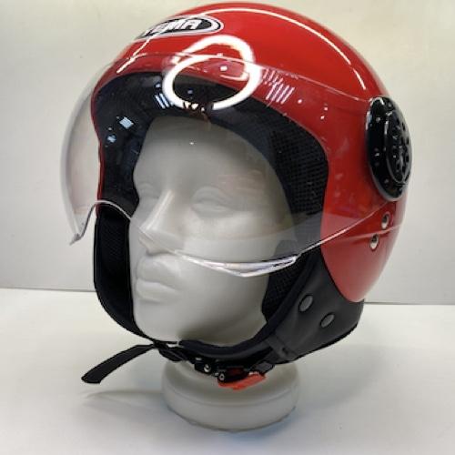 Шлем открытый Yamapa YM-611 (контурный визор) (L, Красный)