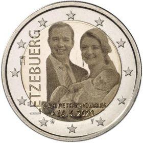 Рождение Принца Чарльза 2 евро Люксембург 2020 UNC Набор из 2 монет