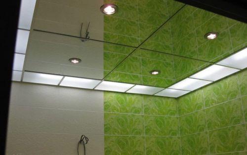 Зеркальный потолок серебро 60х60 см. без фацета