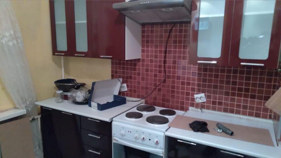 кухня Техно (верх-бордо, низ-шоколад)