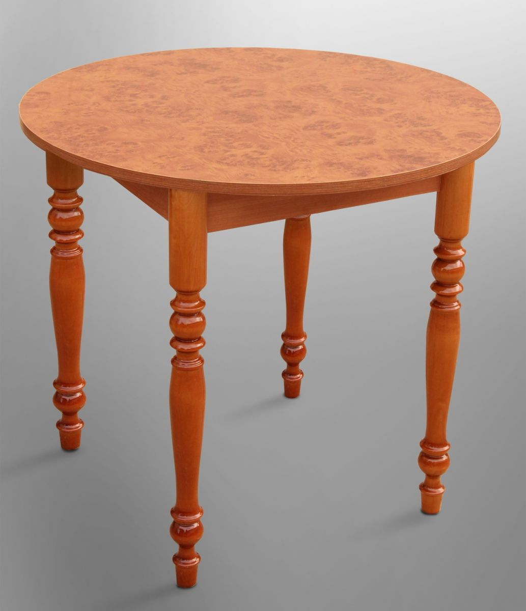 Стол обеденный круглый 800*800 ножки резные
