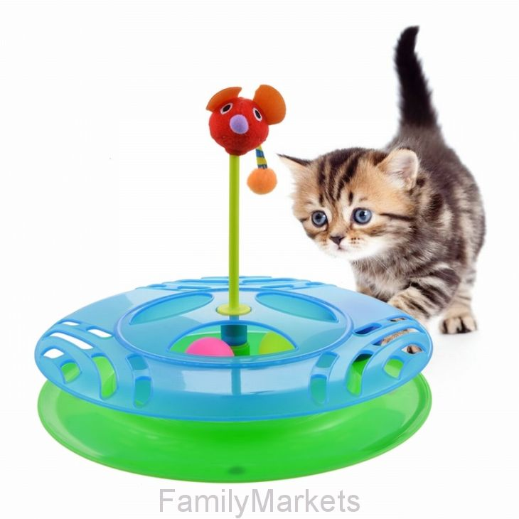 Игрушка-трек для кошек с двумя мячиками Cheese Chase