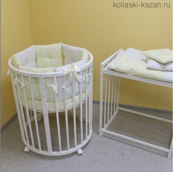 Кроватка Зайка круглая 6 в 1