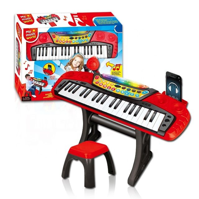 Детское пианино синтезатор со стульчиком (MY66313-L)