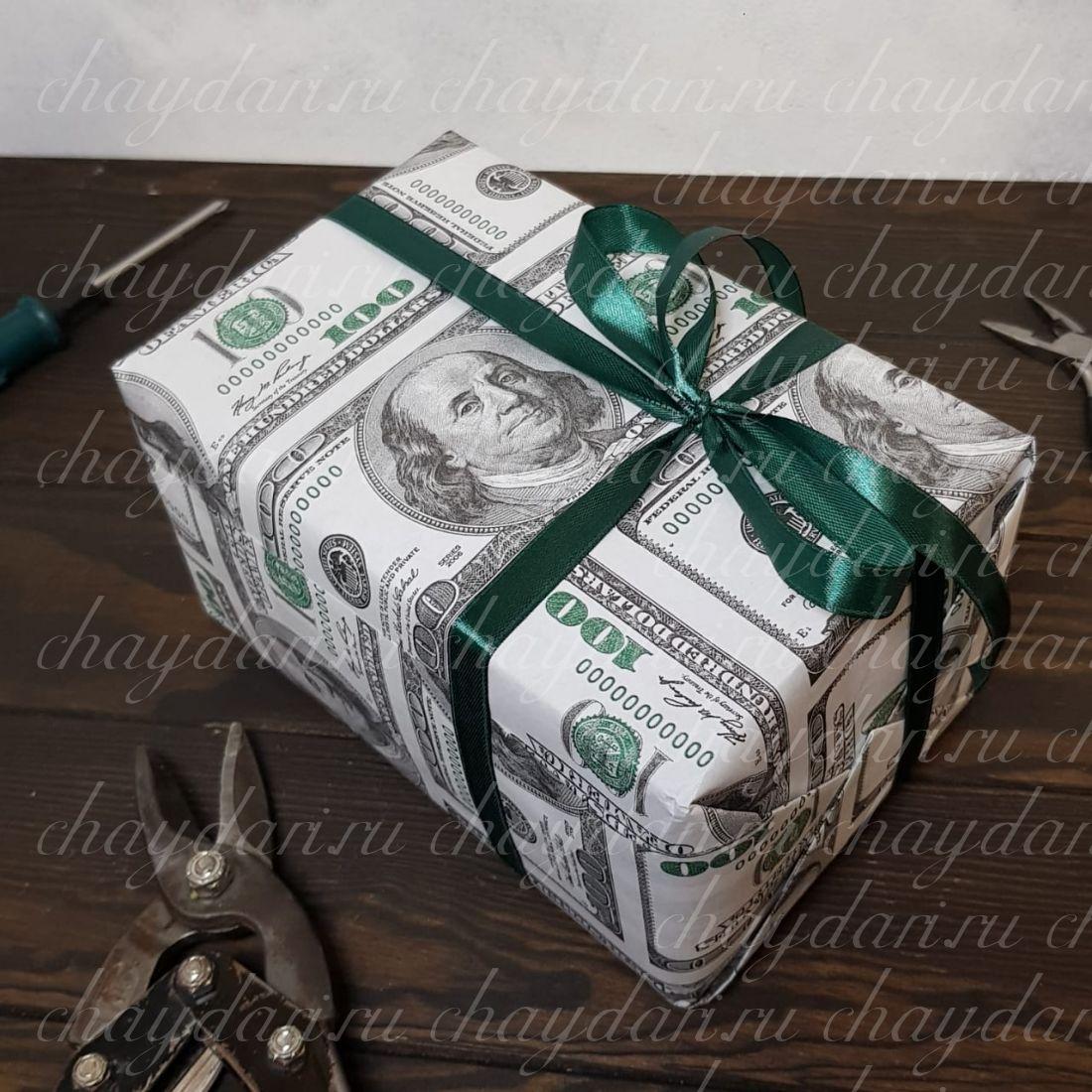 """Коробка с чаем и сладостями """"Money for you"""""""