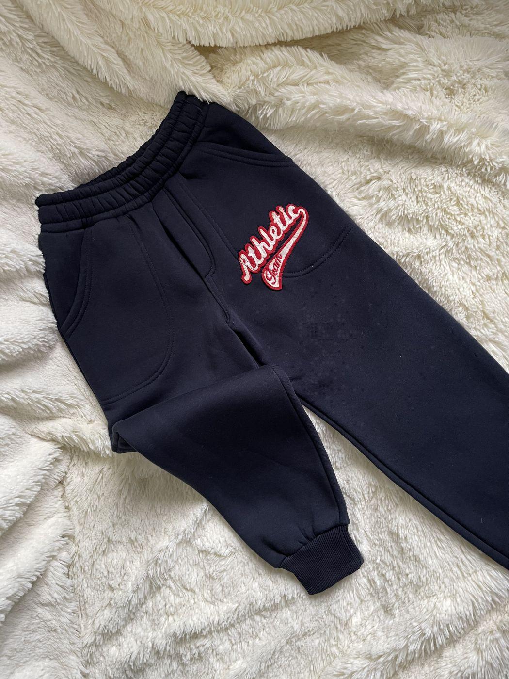 Теплые спортивные штаны (синие)