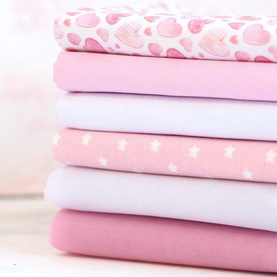 Набор тканей для пошива - Розовая нежность