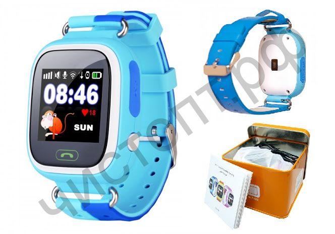 Часы детские с GPS OT-SMG14 (01) Синие ,трекер , срочн. звонок одной кнопкой