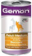 Gemon Dog Adult Medium Bocconi con Pollo e Tacchino Консервы для собак средних пород с кусочками курицы и индейки (1250 г)