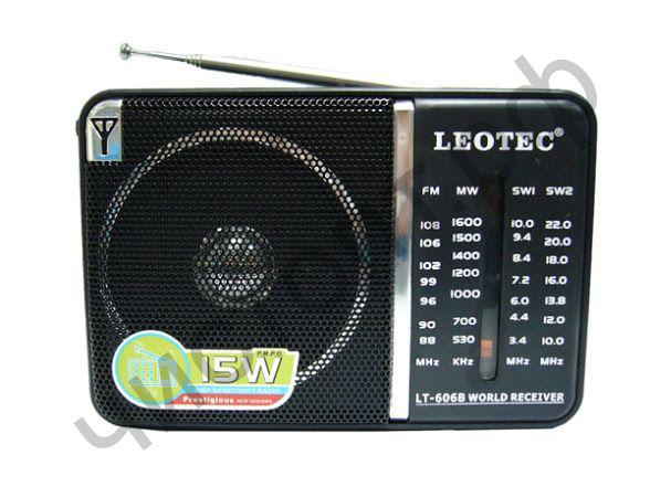Радиоприёмник Leotec LT-606B FM: 88-108 MHz (2*R20)
