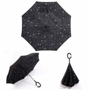 Зонт-наоборот антизонт с кнопкой звезды